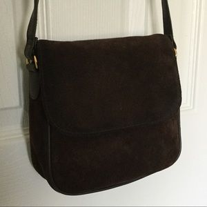 NWOT Brown Suede Shoulder Bag